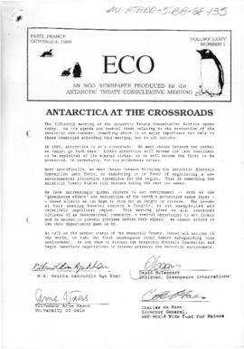"Environment campaign newsletters, ""Antarctica at the crossroads"", ""Comprehensive protection"" and ""We'd Rothera you didn't"" (and others) ECO Vol LXXIV (1) to (6)"