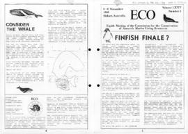 "Antarctic and Southern Ocean Coalition, Eco ""Finfish finale?"" (Eco Volume LXXV Number 2)"