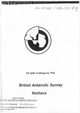 United Kingdom, Oil Spill Contingency Plan, British Antarctic Survey, Rothera, and related plan for Signy