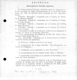 Miscellaneous documents concerning Chile's Antarctic interests