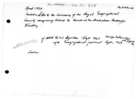 Australian letter to the Royal Geographical Society concerning the limits of the Australian Antarctic Territory