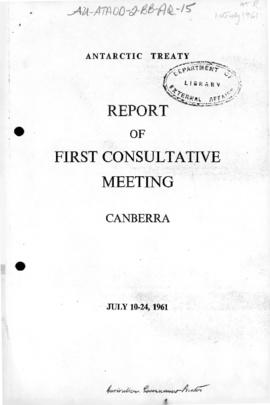 First Antarctic Treaty Consultative Meeting, Canberra