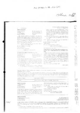 Commonwealth of Australia Gazette, Proclamation pursuant to Seas and Submerged Lands Act 1973