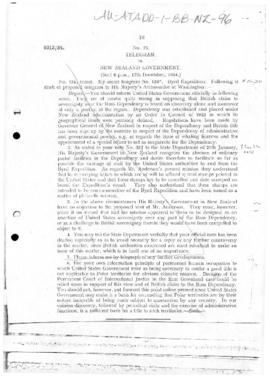 United States note to United Kingdom concerning the requirement of occupation in relation to polar territories
