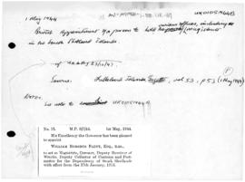British appointment of a person to hold the various offices, including the magistrate in the Sout...