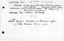 Argentina, Resolution 441 establishing a radio telegraph station at Marguerite Bay
