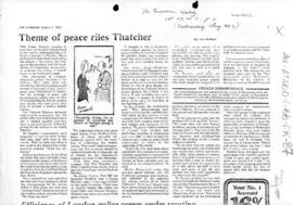 Press articles concerning the Falkland Islands/Malvinas conflict, August 1982