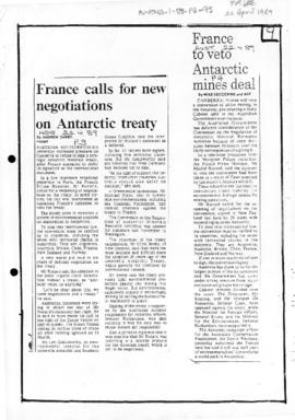 Press articles concerning French attitude to minerals convention