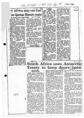 Press articles concerning South Africa