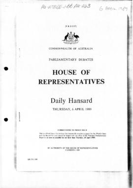 "House of Representatives, Daily Hansard, ""Antarctic Division"""
