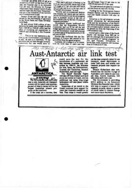 "Beale, Bob ""Aust-Antarctic air link test"" Sydney Morning Herald"