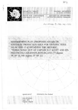 "Twenty-first Antarctic Treaty Consultative Meeting (Christchurch) Working paper 4 ""Managemen..."