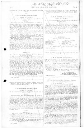 New Zealand, appointment of officers of government of the Ross Dependency