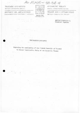 Third Special Antarctic Treaty Consultative Meeting, Information documents, meeting document ANT(...