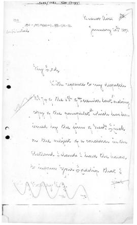 British despatch from Buenos Aires concerning a possible application to the Argentine Government ...
