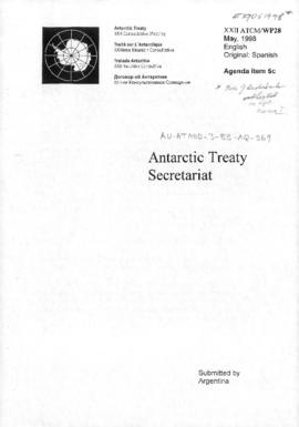 "Twenty-second Antarctic Treaty Consultative Meeting (Tromsø) Working paper 28 ""Antarctic Treaty Secretariat"" (XXII ATCM/WP28) (Argentina)"