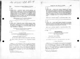 Belgian law no 1082 concerning protection of Antarctic fauna and flora