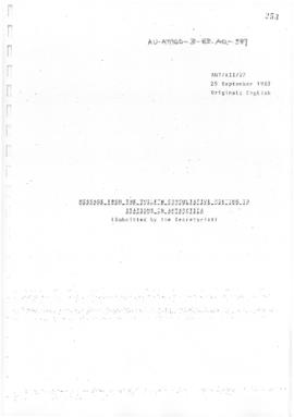 "Twelfth Antarctic Treaty Consultative Meeting (Canberra) Working paper 24 Addendum 1 ""(Draft..."