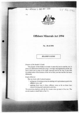 Offshore Minerals Act 1994