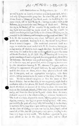 "Great Britain, Account of William Smith, Master of the brig ""Williams,"" taking possession of the South Shetland Islands on 16 October 1819"