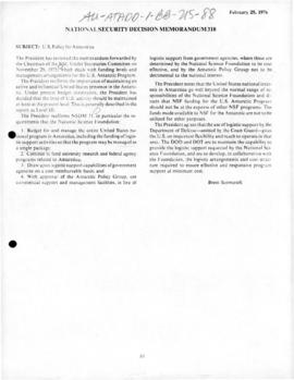 United States, US policy for Antarctica 1976