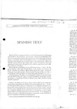 Treaty of peace and friendship and recognition between the Republic of Chile and Her Majesty the Queen of Spain (extract)