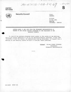United Nations Security Council, documents concerning the Falklands/Malvinas conflict, May-June 1982
