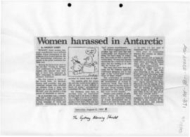 "Darby, Andrew ""Women harassed in Antarctica"" Sydney Morning Herald"
