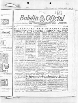 Argentina, article on creation of an Antarctic Institute