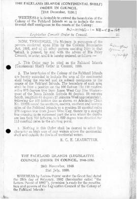 Falkland Islands, Continental Shelf Order in Council 1950
