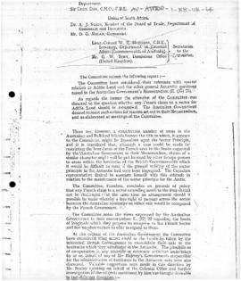 United Kingdom, Report concerning the sector principle of the Committee on Polar Questions to the Imperial Conference 1937