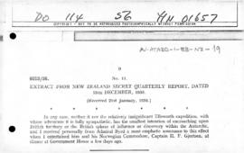 Extract from New Zealand report regarding Ellsworth Expedition and Byrd