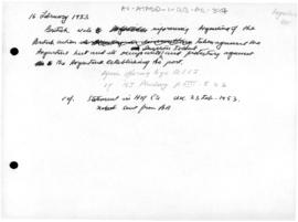 British note to Argentina of British concerning action taken against the Argentine hut and its occupation of Deception Island
