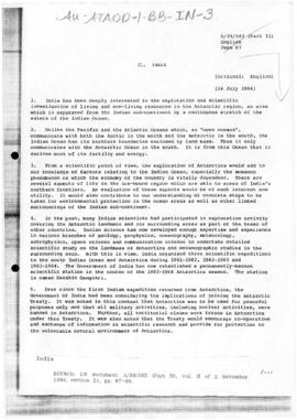 India, United Nations General Assembly, document A/39/583(Part II)