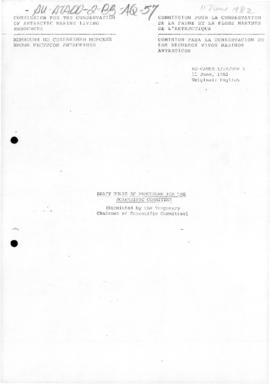 "Commission for the Conservation of Antarctic Marine Living Resources, ""Draft rules of proced..."