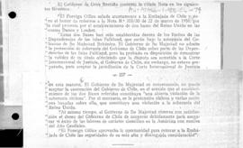 British note to Chile rejecting Chilean protests concerning the establishment of British bases