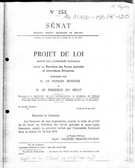 "France, Assemblée Nationale, Senate, ""Projet de Loi"" Law projects relating to the Frenc..."