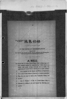 United States, Bill HR 6148 for an Act to amend title 18 of the Code to discourage criminal condu...