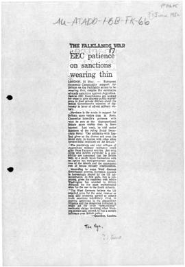 Press articles concerning the Falkland Islands/Malvinas conflict, June 1-11, 1982