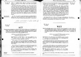 South Africa, Territorial Waters Act, 1963, amendments to 1977, Proclamation applying the Act to the Prince Edward Islands, and related law applying the fisheries legislation