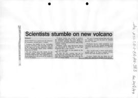 """Scientists stumble on new volcano"" The West Australian"