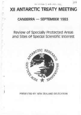 "Twelfth Antarctic Treaty Consultative Meeting (Canberra) Non-paper ""Review of Specially Prot..."