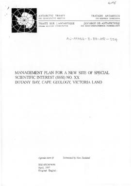 "Twenty-first Antarctic Treaty Consultative Meeting (Christchurch) Working paper 6 ""Managemen..."