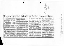 "Kriwoken, Lorne ""Expanding the debate on Antarctica's future"" The Mercury"