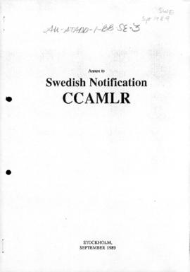 Sweden, Annex to Swedish notification CCAMLR