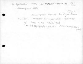 Norwegian letter to Sir Eyre Crowe concerning Nansen correspondence