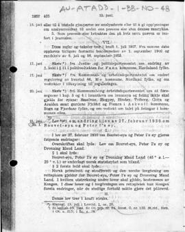 Law no. 1 of 21 June 1957 amending law no. 3 of 27 February 1930 concerning Bouvet Island and Peter I Island by including Queen Maud Land