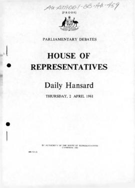 Parliamentary debates, House of Representatives, Antarctic Marine Living Resources Conservation Bill 1982, second reading