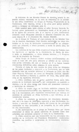 Chilean report on 1958 preparations for the Conference on Antarctica