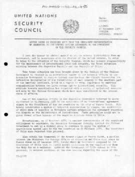 United Nations Security Council and General Assembly documents concerning dispute between Argentina and Chile